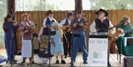 Our student group playing at a local festival