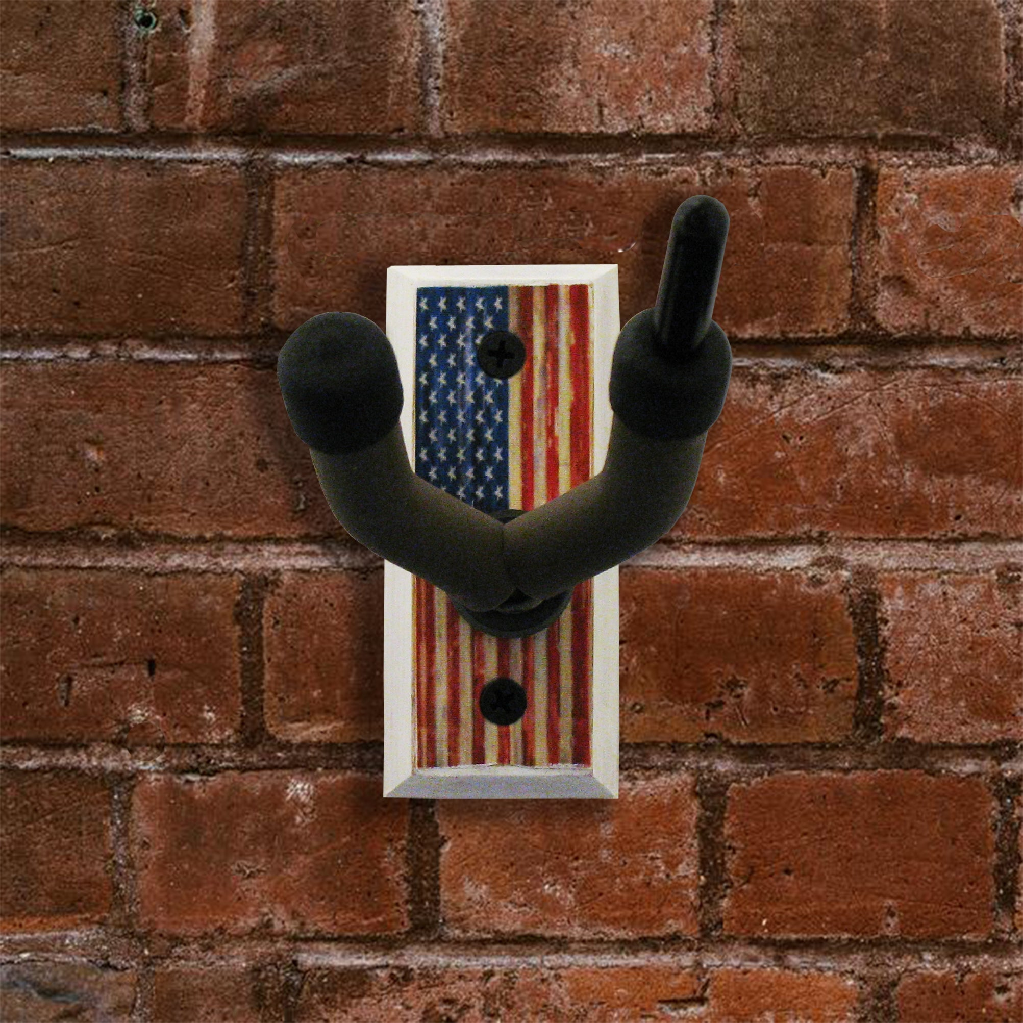 American Flag - Fiddle Wall Hanger - Distressed Reclaimed Oak
