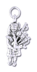 Charms - Bagpiper Sterling Silver Charm
