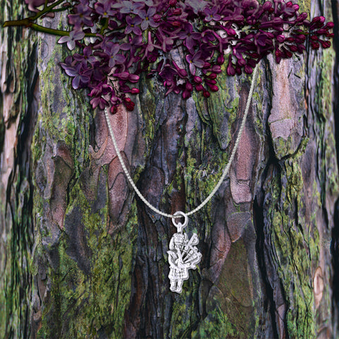 Bagpiper Sterling Silver Necklace