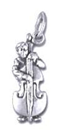 Bass Player Sterling Silver Charm