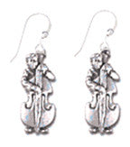 Bass Player Sterling Silver Earrings