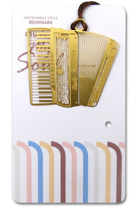 Bookmarks - Gold Accordion Bookmark