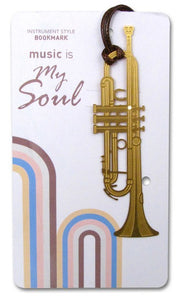 Bookmarks - Gold Trumpet Bookmark