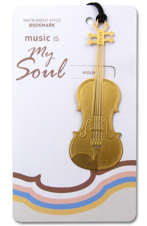 Bookmarks - Gold Violin Bookmark