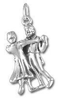 Contra Dancers Sterling Silver Charm