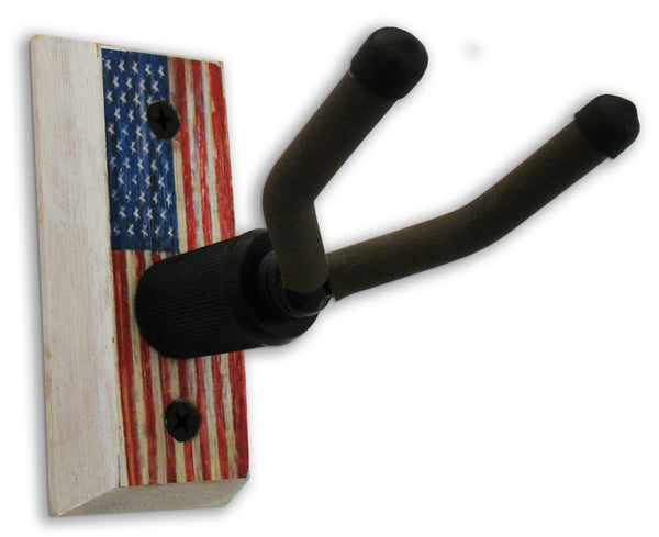 American Flag - Banjo Wall Hanger - Distressed Reclaimed Oak