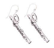 Earrings - Flute Sterling Silver Earrings