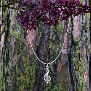 G-Clef Sterling Silver Necklace