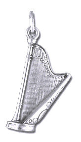 Charms - Harp Sterling Silver Charm