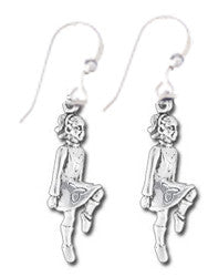 Earrings - Irish Step Dancer Sterling Silver Earrings