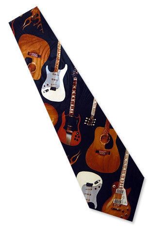 Electric Guitar Necktie