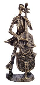 Musician Figurines - Bronze Cellist Figurine