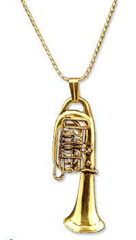 Necklaces - Gold Euphonium Necklace