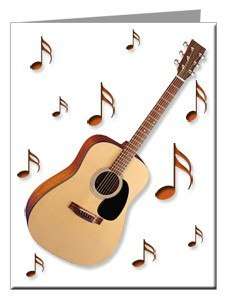 Note Cards - Acoustic Guitar Note Cards