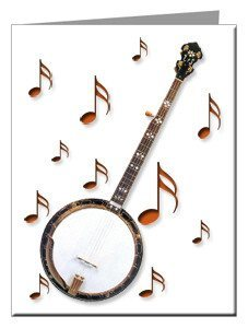 Note Cards - Bluegrass Banjo Note Cards