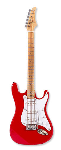 Miniature Musical Instruments - Miniature Red Electric Guitar