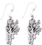 Earrings - Bagpiper Sterling Silver Earrings