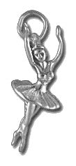 Charms - Ballerina Sterling Silver Charm