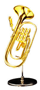 Miniature Musical Instruments - Miniature Tuba with Stand