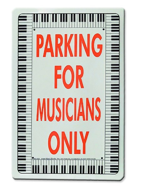 Wall Decorations - Parking For Musicians Only Sign