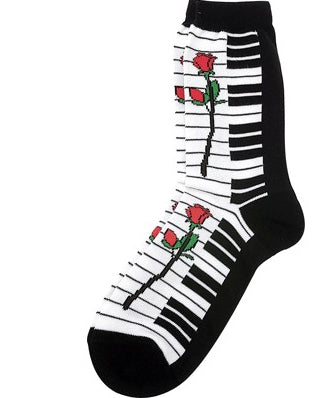 Keyboard with Roses Socks