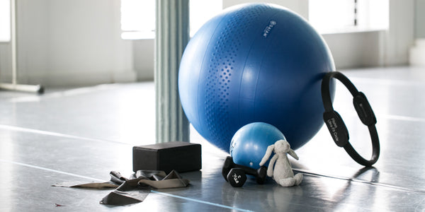 Pilates physioball, band, ring, block and weights to make the most of your prenatal and postnatal Pilates workouts