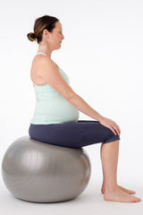 seated on a physioball