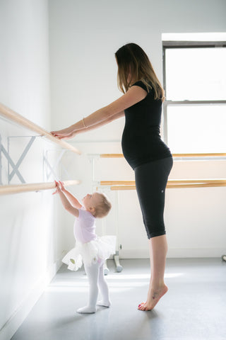 Prenatal pilates barre exercises with Ali Handley