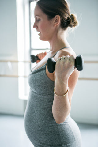 Prenatal pilates arm exercises with Ali Handley