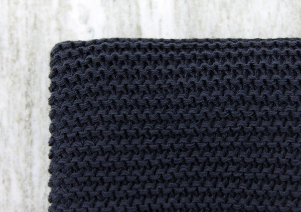organic cotton hand towel (charcoal)