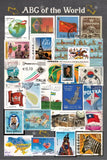 ABC Stamps of the World Postcard
