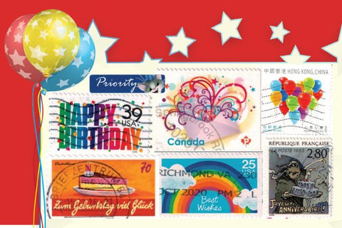 Birthday Stamps Postcard
