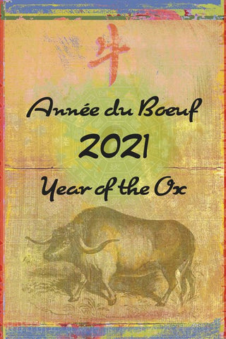 2021 Year of the Ox Postcard