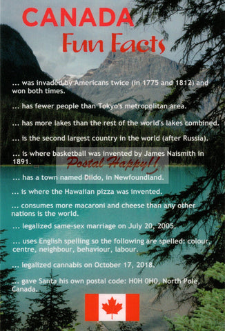 Canada Fun Facts Postcard