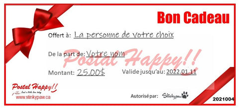 Postal Happy!! Gift Certificate