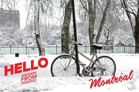 Montréal Winter Scene Postcard