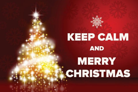 """Keep Calm and Merry Christmas"" Postcard"