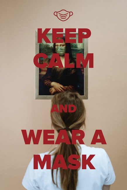"""Keep Calm & Wear a Mask"" Postcard"