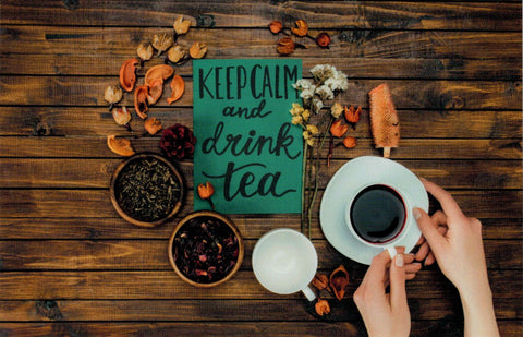 """Keep Calm and Drink Tea"" Postcard"