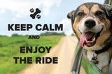 """Keep Calm and Enjoy The Ride"" Postcard"