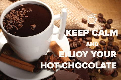 """Keep Calm and Enjoy Your Hot Chocolate"" Postcard"