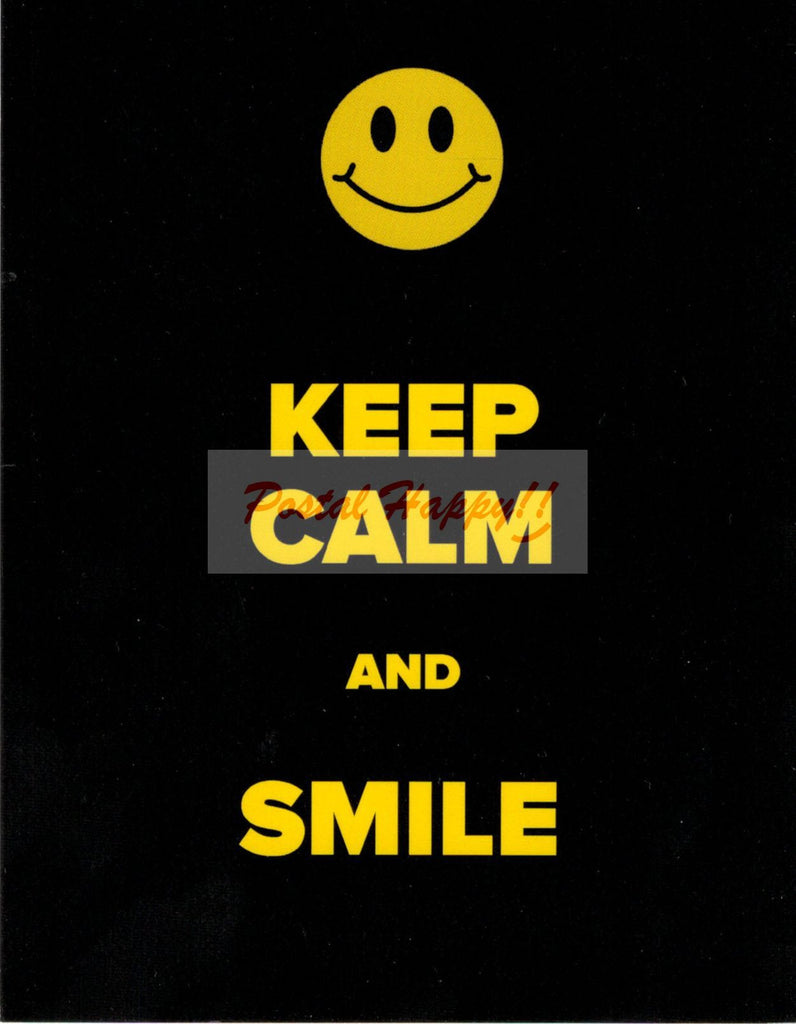 """Keep Calm and Smile"" Postcard"