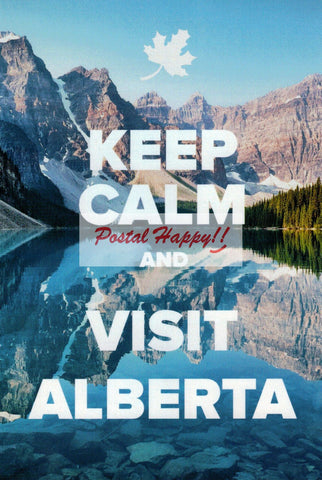 """Keep Calm and Visit Alberta"" Postcard"