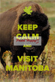 """Keep Calm and Visit Manitoba"" Postcard"