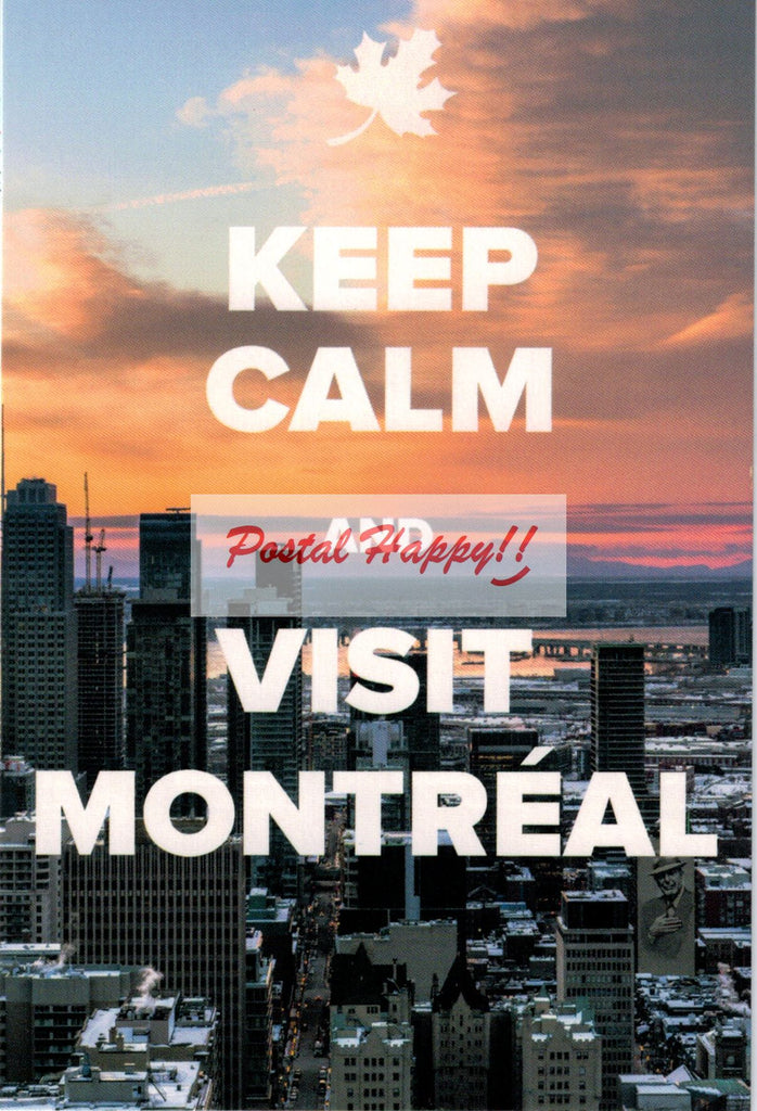 """Keep Calm and Visit Montréal 2.0"" Postcard"