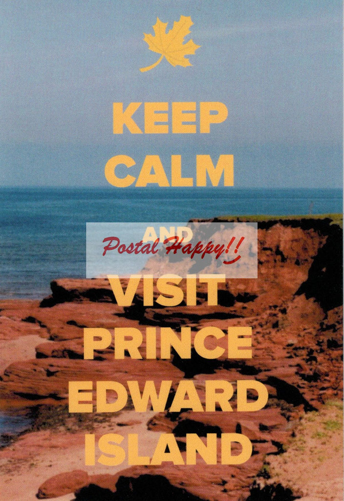 """Keep Calm and Visit Prince Edward Island"" Postcard"
