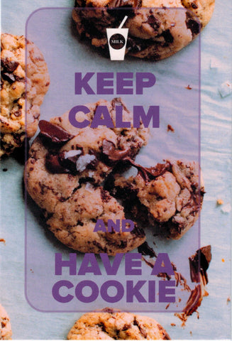 """Keep Calm and Have a Cookie"" Postcard"