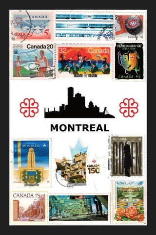 All About Montréal Stamps Postcard