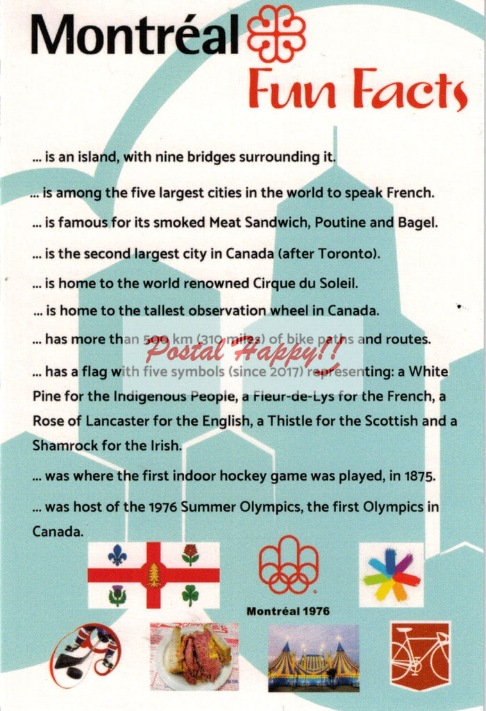 Montréal Fun Facts 2.0 Postcard